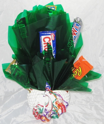 Golf Candy Bouquet from Aladdin's Floral in Idaho Falls