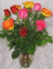 Mixed Roses from Aladdin's Floral in Idaho Falls