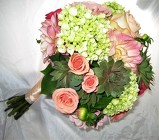 Flowers and Succulents Bridal Bouquet from Aladdin's Floral in Idaho Falls