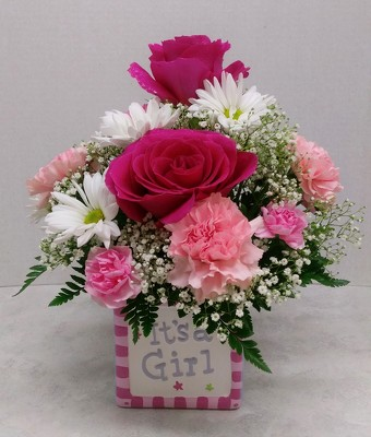 It's a Girl Bouquet from Aladdin's Floral in Idaho Falls