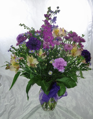 Sun-kissed With Purple from Aladdin's Floral in Idaho Falls