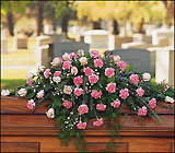 Heavenly Pink Casket Spray from Aladdin's Floral in Idaho Falls