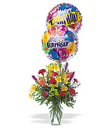 Birthday Balloons And Flowers From Aladdins Floral In Idaho Falls
