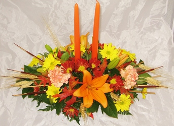 Thanksgiving Centerpiece from Aladdin's Floral in Idaho Falls