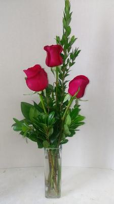 Three Red Roses from Aladdin's Floral in Idaho Falls